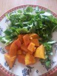 Kürbis und Salat